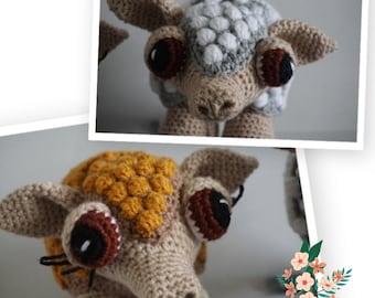 Handmade Crochet Armadillo - Animal Crocheted Toys - Armadillo Stuffed Toy