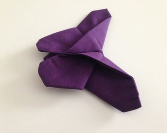Papillon en origami violet