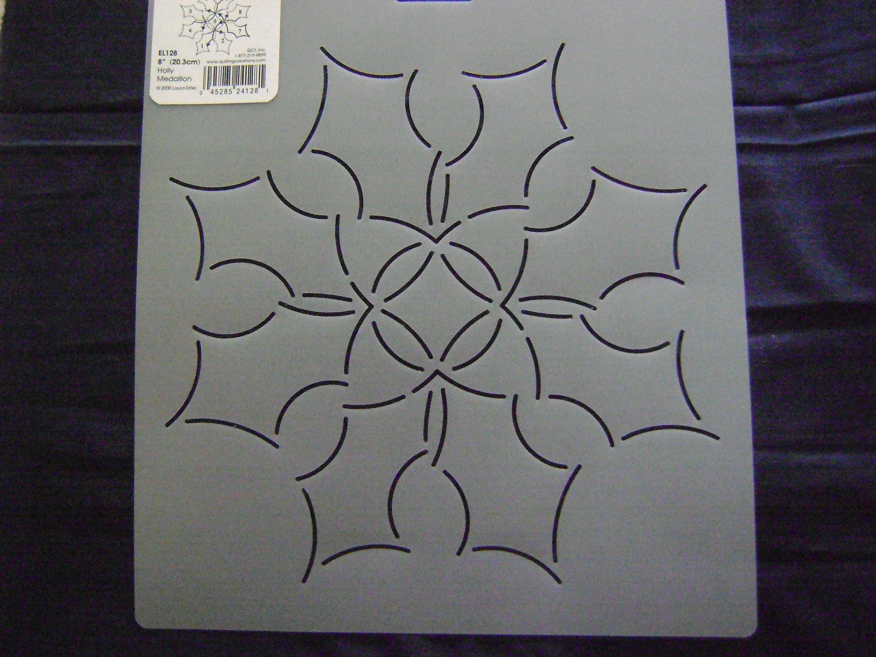 Sashiko Japanese/Traditional Embroidery/Quilting Stencil 8 in. Holly ...