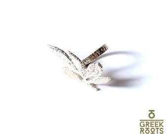 Sterling Silver Autumn Leaf Ring