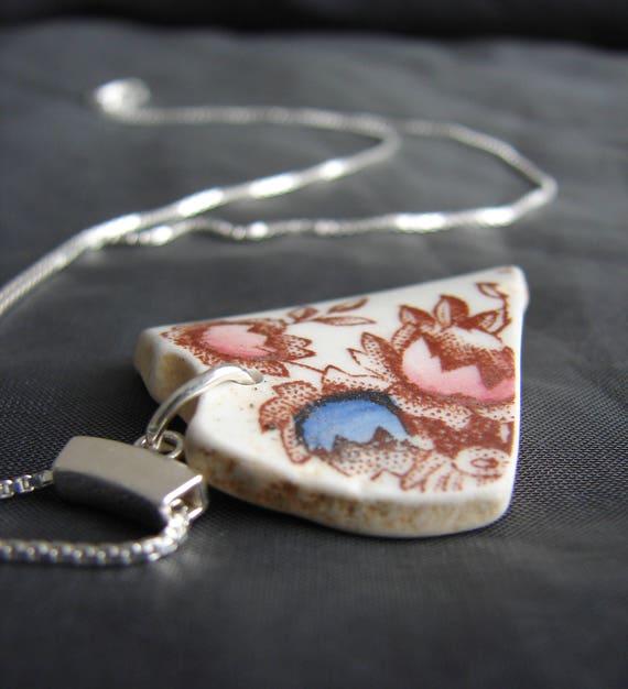 Mermaid's Garden sea pottery necklace