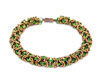 Turkish Round Maille Weave Bracelet
