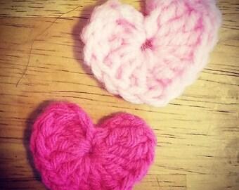 Valentine Crochet Hearts