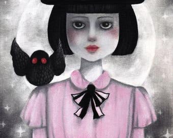 Halloween 4.10.2017 - Original Drawing - Pop Surrealism - Illustration - Art - Wall Art - Decor