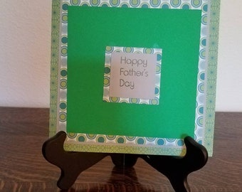 Father's Day Card, Happy Father's Day Card, Square Father's Day Card, Large Father's Day Card
