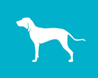 Coonhound Car Decal | Dog Breed Sticker | Dog Silhouette | Laptops | Tumblers | Boats | Trucks | Coonhound Mom & Dad | I Love My Coonhound