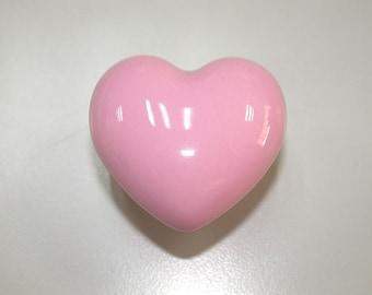 Pink wardrobe handles, Kids drawer knobs, Heart dresser knobs and ...