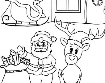 Christmas coloring book (11 pages)