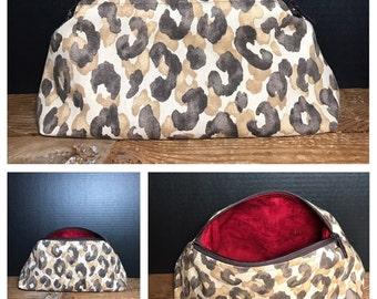 Animal Print Bag   make-up bag, fun bag, money bag, cosmetic bag, everything bag, Plum & Khloe Designs Bag, Zipper Pouch