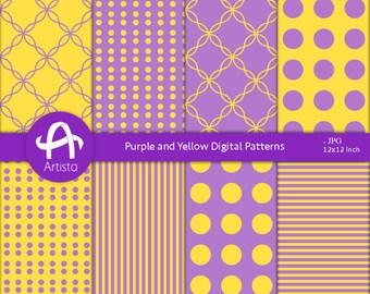 Purple Digital Patterns Download Printable Paper Digi Downloads Yellow