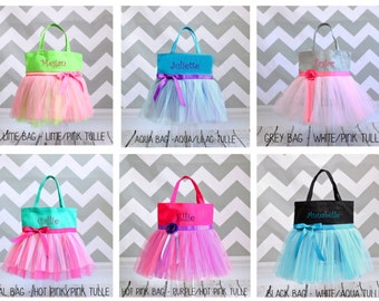 Dance Bag, Ballet bag, Tutu bag, Girls name bag, Personalized Tote, Girls Tote Bag, custom tote, girl gift, girl birthday gift, tutu tote