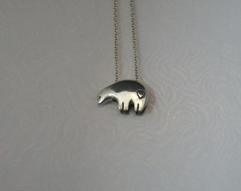 Sun bear necklace etsy sterling silver sun bear pendant lg wheart aloadofball Images