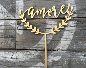 """Amore Wedding Cake Topper 