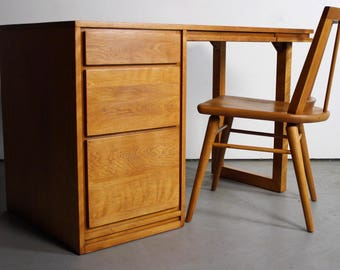 Mid Century Modern Birch Desk By Russel Wright For Conant Ball