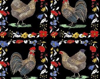 Blend Fabrics - French Hen - Farmer's Pride - Black