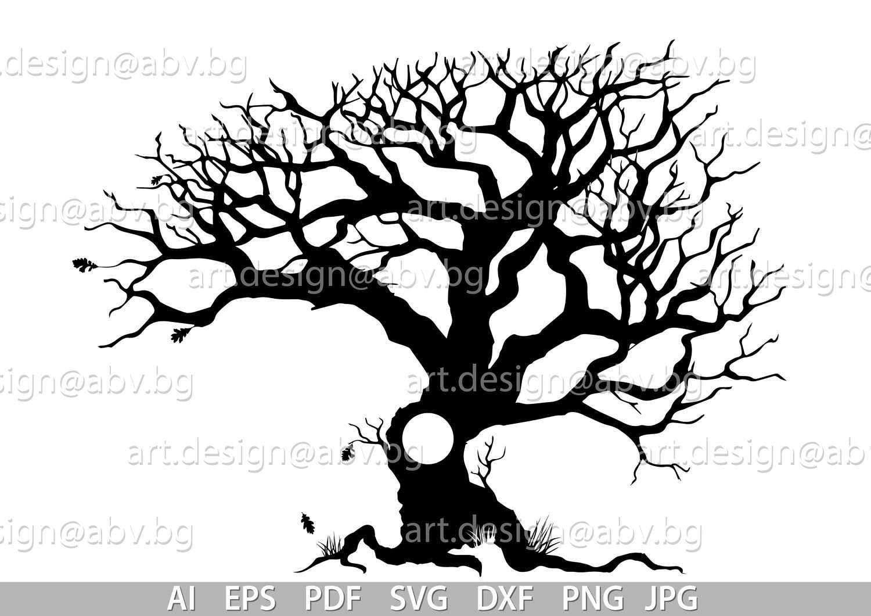 Vector OAK TREE, AI, eps, pdf, svg, dxf, png, jpg Image