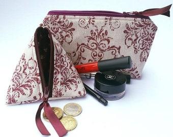 Makeup Pouch * Makeup Bag * Coin Pouch * Coin Bag * Zippered Pouch * Zipper Pouch * Quilted Pouch