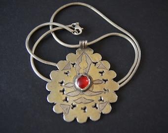 Turkmen Gilded Ethnic Pendant Necklace