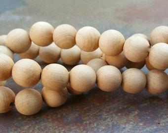 Sandalwood Beads, 8mm beads, Mala Beads, qty. 50pcs