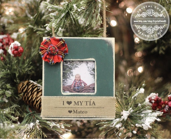 Aunt Tia Spanish Christmas Ornament GIFT Personalized Photo