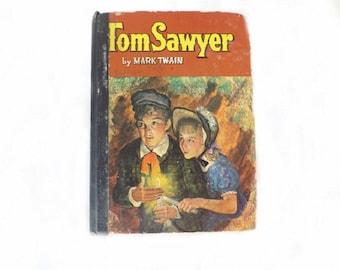 1955 Antique Book, Adventures of Tom Sawyer, Mark Twain, Children Book, Young Reader Book, Literary Fiction, Classical Literature, Huck Finn