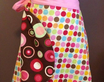 Ladies Reversible Wrap Skirt - made to order, custom, you choose fabric