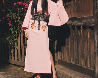 Lost in Kyoto collection japanese pink cherry blossom on the tree kimono dress
