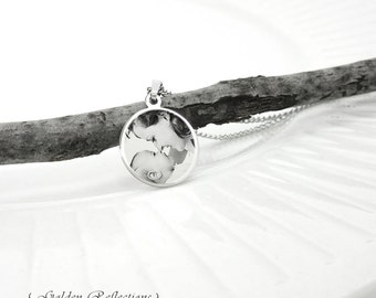 Photo Engraved Pendant | Keepsake Engraving Necklace | Text Engraving | Photo Gift for Her | Album Gift for New Mom | Newborn Photo Jewelry