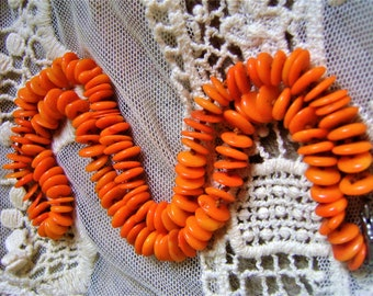 Beautiful orange coral necklace