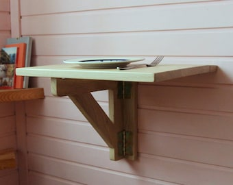 wall mounted table fold down desk drop leaf table space saving table - Fold Down Table