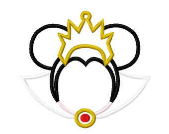 Character Inspired Evil Queen Embroidery Applique Design