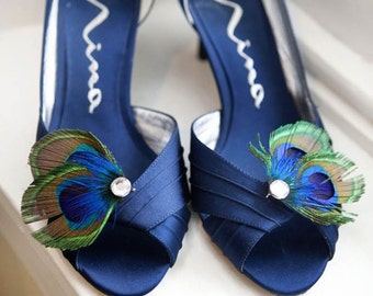STELLA Peacock Feather Shoe Clips