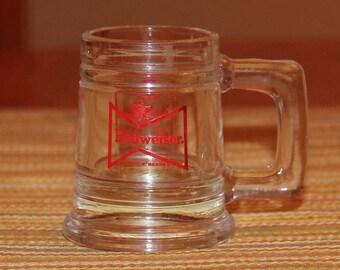 Budweiser mini mug shot glass