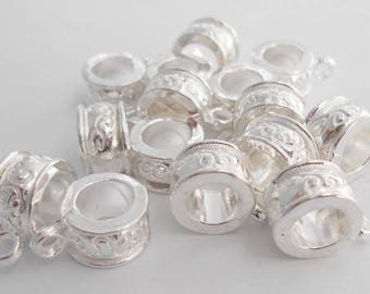 Bails beads with fine work for jewelry Charms 13 x 9 mm