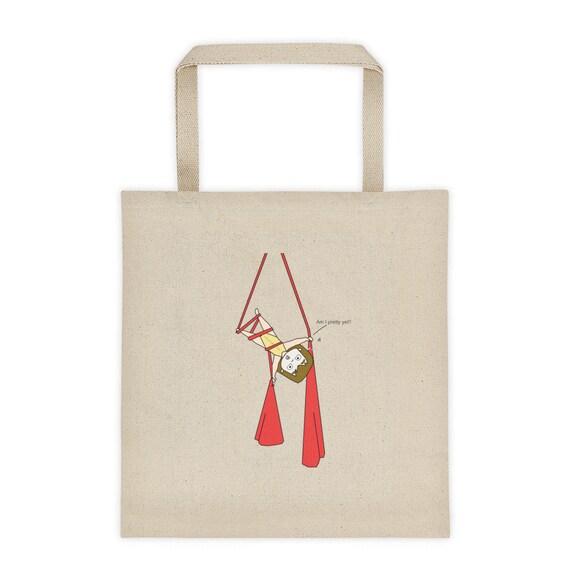 Beach Bag, Women's tote bag, Aerial problems bag, circus bag, aerialist, circus gift, circus party, funny bag, fitnesswear, aerialist