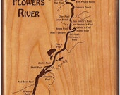 FLOWERS RIVER MAP Fly Box...