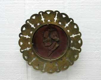 Vintage Copper And Brass Mendelssohn Wall Plaque