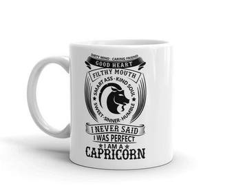 Capricorn Astrology dirty mind caring friend filthy mouth smart ass kind soul sweet sinner humble never said i was perfect coffee mug