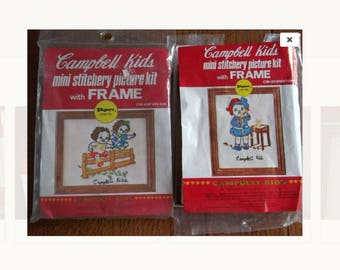 Mini Stitchery Craft Kits - Campbell's Kids - CLEARANCE SALE - was 12 .. now 8