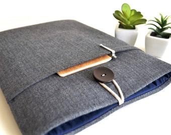 Laptop Case 15.6, 13.3, 15.4 inch MacBook Pro Case, New 2017 MacBook Touch Bar Case, Padded Computer Case Custom Size - Flannel Herringbone