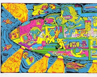 Troll Submarine Screen Print