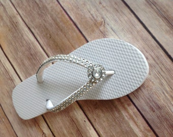 Sparkly Flip Flops - Pick from 12 strap colors