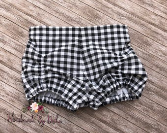 Girls bubble shorts, toddler bubble shorts, toddler shorties, ruched front shorts