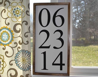 Set of Three Custom Handmade Date Signs