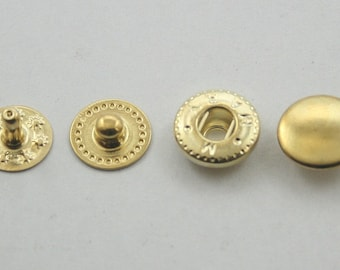 20 sets. Gold Snaps Buttons Fasteners Rivet Stud Decorations Findings 10 mm. G VT2 K