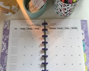 Customizable Planner - Ariana - 1 Year - Personalized Calendar, Journal, Notebook, Book, Disc Bound