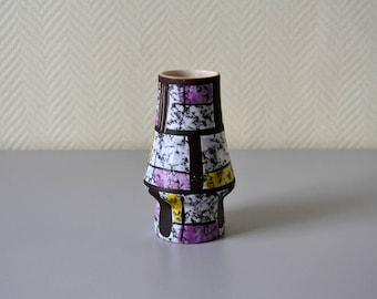 German West Germany Vase / small vintage enamelled vase 70s