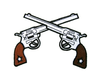 Gun Embroidered Applique Iron on Patch