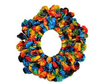 Ribbon headband/Hair Scrunchies/Ruffle Scrunchie/ ribbonScrunchie/ multicolored  Scrunchie /Handmade Scrunchie /Gift Under 10/gift for her