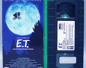 Vintage 1988 E.T. The Extra Terrestrial VHS tape & Box